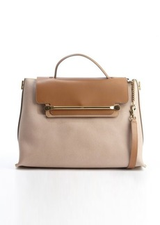 Chloe rope and beige leather front flap 'Clare' convertible tote bag