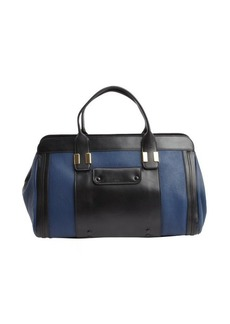Chloe royal navy and black leather 'Alice' top handle bag