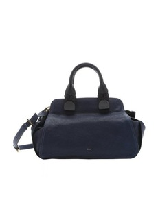 Chloe royal navy lambskin 'Fynn' small satchel bag