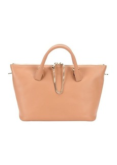 Chloe sam coral and teak leather 'Baylee' convertible tote