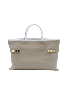 Chloe ship grey leather 'Charlotte' large tote bag