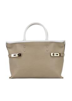 Chloe ship grey leather 'Charlotte' small tote bag