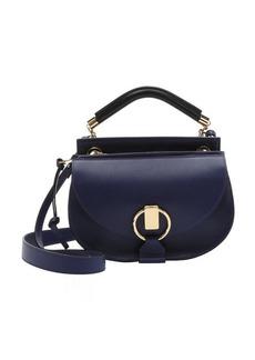 Chloe storm blue calfskin small 'Goldie' convertible satchel