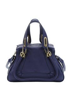 Chloe storm blue calfskin small 'Paraty' convertible top handle bag