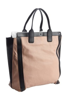 Chloe tamaris pink and black leather shopper tote