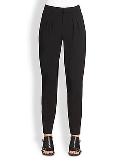 Chloé Tapered Pleat-Front Pants