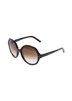 Chloe tortoise shell round frame 55mm sunglasses