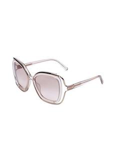 Chloe translucent turtledove square 56mm sunglasses