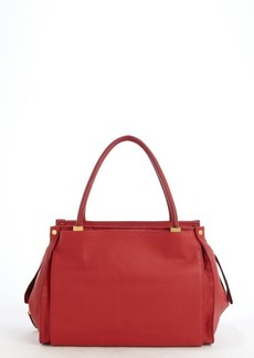 Chloe vermilion leather 'Dree' top handle bag