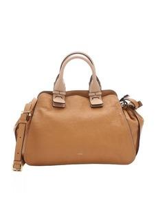 Chloe wet sand lambskin 'Fynn' medium satchel bag