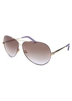 Chloe Women's Aviator Gold-Tone and Light Purple Sunglasses