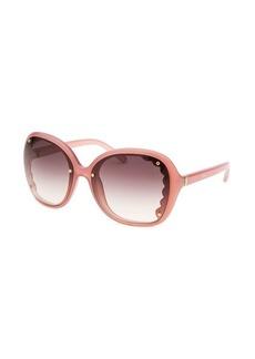 Chloe Women's Butterfly Pink Sunglasses