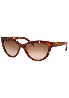 Chloe Women's Cat Eye Havana Sunglasses
