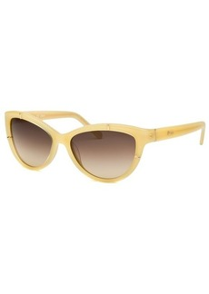 Chloe Women's Cat Eye Ivory-Tone Sunglasses