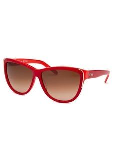 Chloe Women's Cat Eye Red Sunglasses