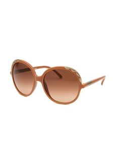 Chloe Women's Oversized Orange-Brown Sunglasses