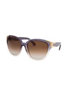 Chloe Women's Oversized Translucent Grey & Champagne Sunglasses