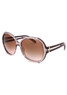 Chloe Women's Oversized Translucent Light Pink Sunglasses