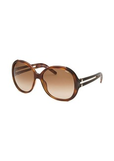 Chloe Women's Round Havana Sunglasses