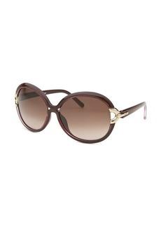 Chloe Women's Round Violet Sunglasses