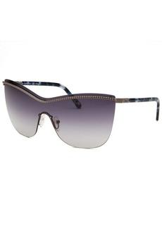 Chloe Women's Shield Gunmetal Sunglasses