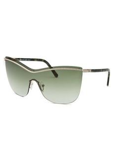 Chloe Women's Shield Silver-Tone Sunglasses