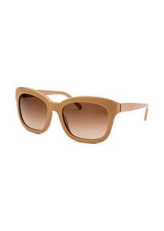 Chloe Women's Square Beige Sunglasses