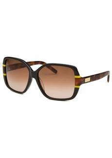 Chloe Women's Square Black and Havana Sunglasses