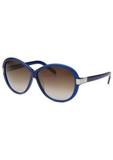 Chloe Women's Square Blue Sunglasses