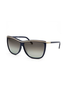 Chloe Women's Square Blue Sunglasses Blue Lens