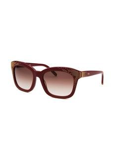 Chloe Women's Square Bordeaux Sunglasses
