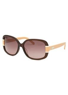 Chloe Women's Square Brown Sunglasses