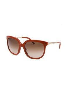 Chloe Women's Square Burnt Orange Sunglasses