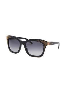 Chloe Women's Square Dark Blue Sunglasses