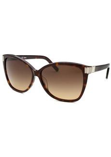Chloe Women's Square Dark Havana Sunglasses