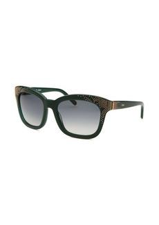 Chloe Women's Square Green Sunglasses