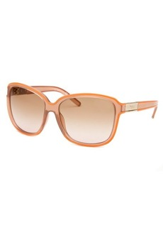 Chloe Women's Square Light Purple And Orange Sunglasses