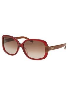 Chloe Women's Square Red Sunglasses