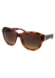 Chloe Women's Square Tortoise Sunglasses Crystal Accent