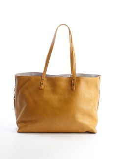 Chloe yellow leather side zip shopping tote