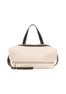 Dalston Leather Shoulder Bag, Beige/Black   Dalston Leather Shoulder Bag, Beige/Black