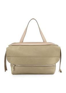 Dalston Medium Deerskin Shoulder Bag, Green/Beige   Dalston Medium Deerskin Shoulder Bag, Green/Beige