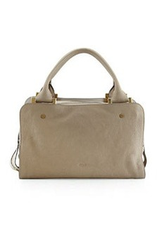 Dalston Triple-Zip Leather Satchel Bag, Gray   Dalston Triple-Zip Leather Satchel Bag, Gray
