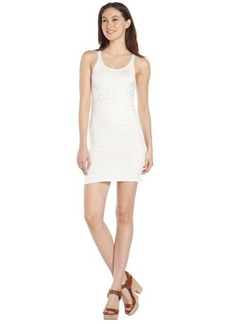 ivory stretch cotton 'Chloe' sleeveless dress