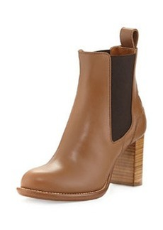 Leather Ankle Boot, Light Tan   Leather Ankle Boot, Light Tan