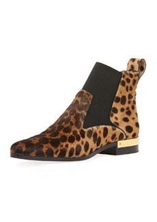 Leopard-Print Calf Hair Ankle Boot   Leopard-Print Calf Hair Ankle Boot