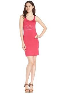 pink stretch cotton 'Chloe' sleeveless dress