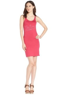 pink stretch cotton 'Chloe' sleeveless dress