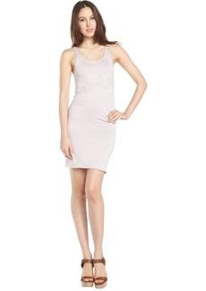 purple stretch cotton 'Chloe' sleeveless dress