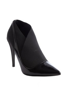 Christian Dior black covered 'Defile' nylon and leather point toe pumps